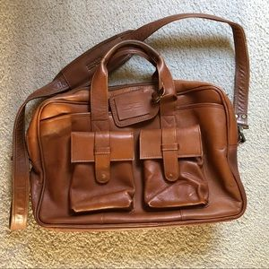 GUC Claire Chase Men's Brown Leather Brief Case